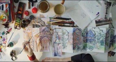 sketchbook page - haf Weighton